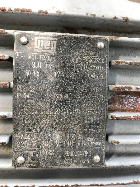 REDUTOR RED-VAR 3CV MOTOR WEG 1710RPM