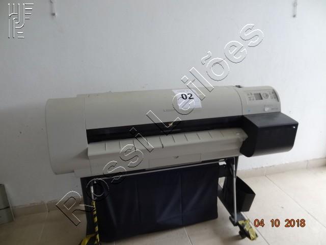 Lote com:  1   un  de  Impressora Plotter Canon Vel. 41M2/H. (Será vendido no estado de conservação em que se encontra)