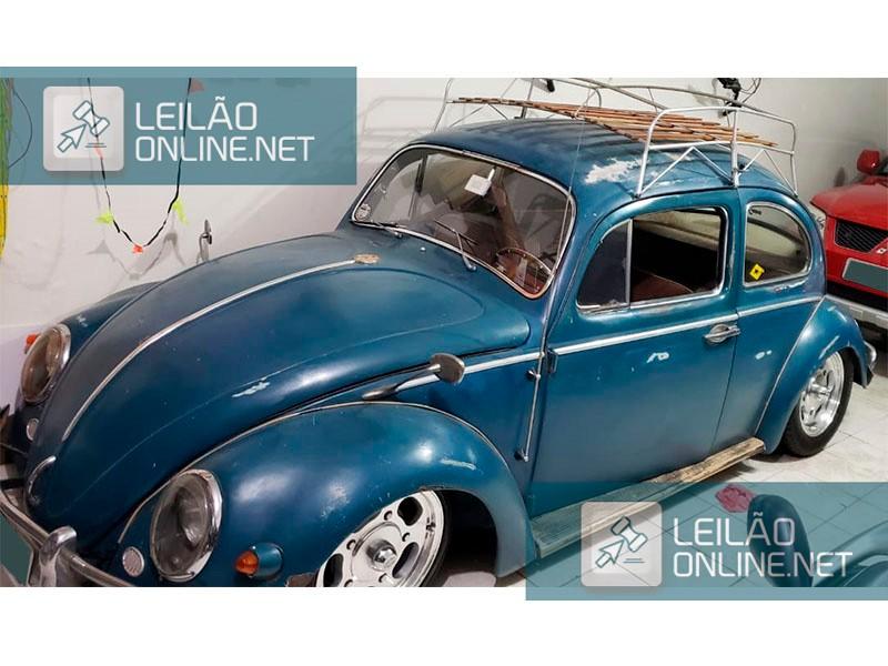 CLASSICO AIRCOOLED Rat look - VW; FUSCA 1200; 1965/1965; AZUL; GASOLINA (desgaste original)