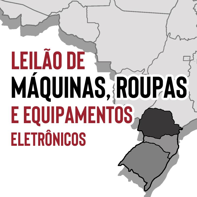 MÁQUINAS, ROUPAS E EQUIPAMENTOS NA REGIÃO SUL DO BRASIL