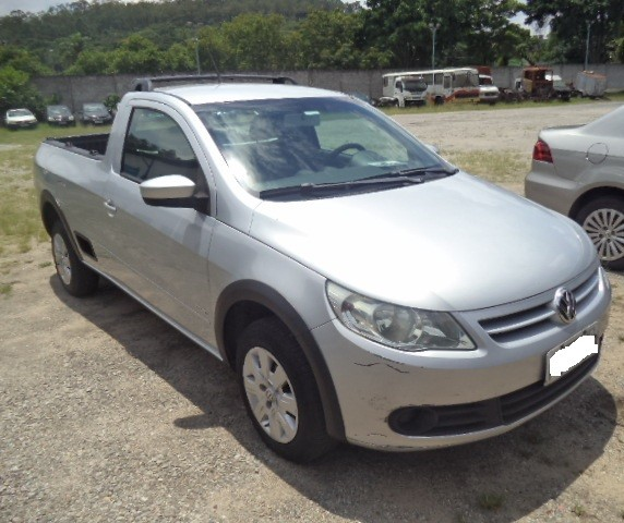 VW/ SAVEIRO 1.6 CS, ANO 2013, FLEX, PRATA